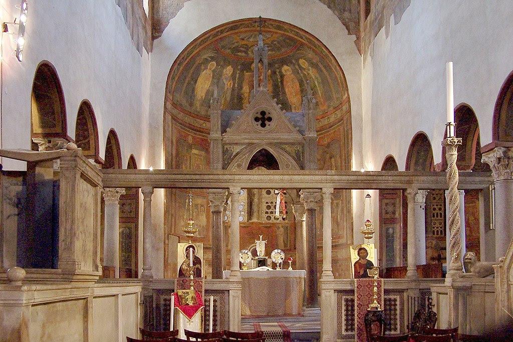 Rom Santa Maria i Cosmedin BW 1.JPG