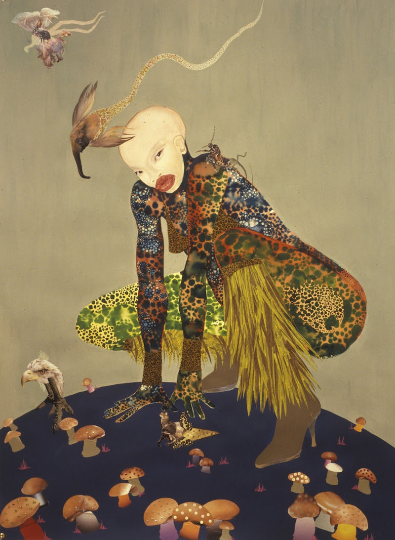 Wangechi Mutu, Riding Death in My Sleep. 2002. Ink and collage on paper, 60 x 44 inches (152.4 x 111.76 cm). Collection of Peter Norton, New York. © Wangechi Mutu