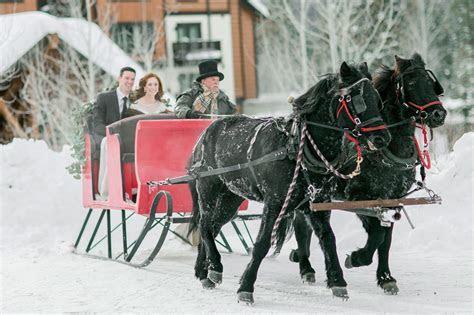 Winter Wedding Inspiration in Idaho ? Luxe Mountain