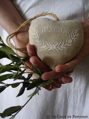 Linen heart Jardin d'Ulysse