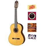 Yamaha CG182S Solid Spruce Top Classical Guitar Bundle with Instructional DVD, Strings, Pick Card, and Polishing...
