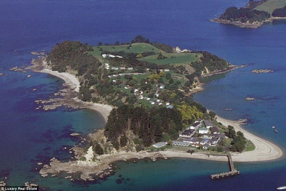 Solitude: This entire island - once a holiday resort - is up for sale, complete with three sandy beaches and '62 units', so there is plenty of choice on where to stay