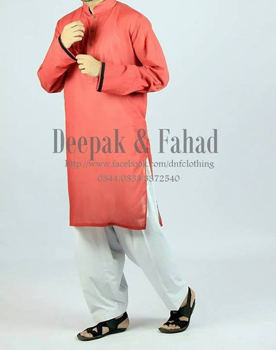 Mens-Boy-New-Summer-Eid-Dress-Kurta-Kamiz-Salwar-Pajama-2013-by-Deepak-Fahad-15