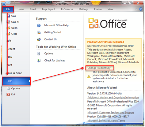 microsoft office 2010 product key activation crack