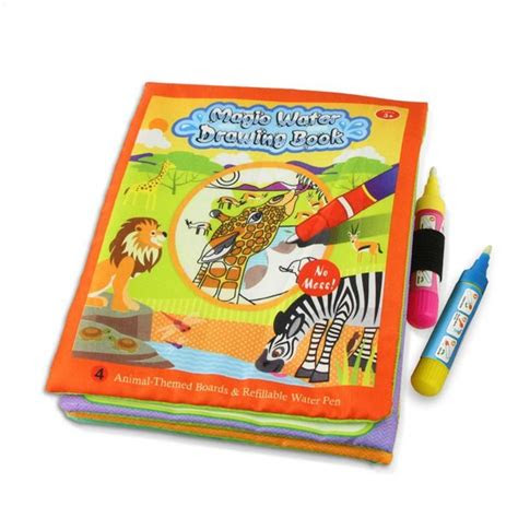 cocuklar hayvanlar boyama sihirli su cizim kitap  su