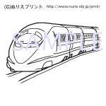 ぬりえ無料機関車新幹線電車乗り物5こどものぬりえ