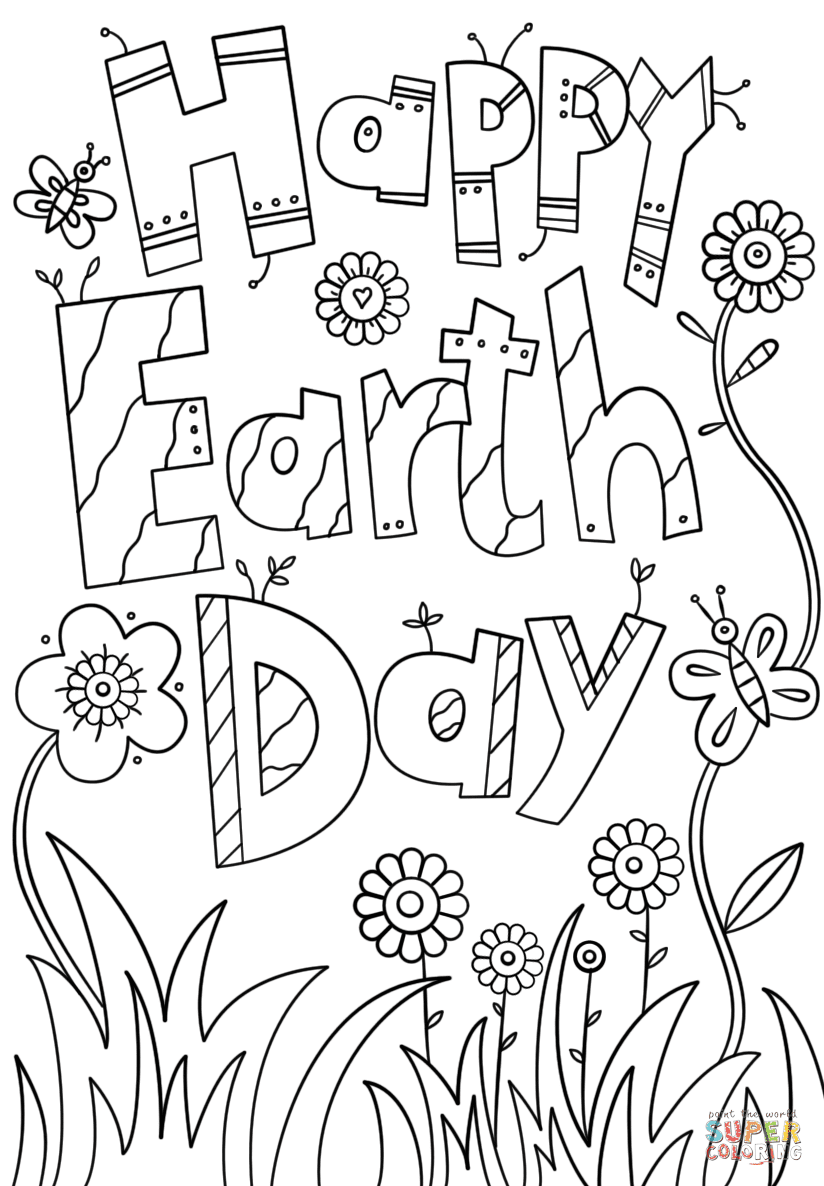 Happy Earth Day coloring page | Free Printable Coloring Pages