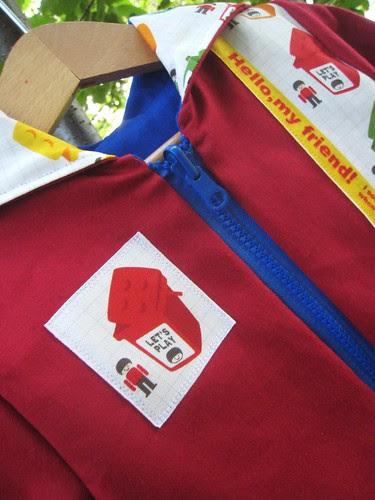 Lego hoodie badge detail