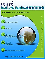 cover for Math Mammoth Grade 7-A Complete Worktext