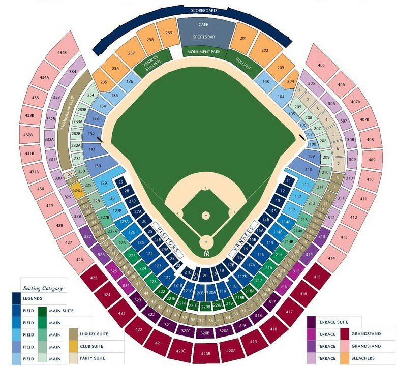 New York Yankees Seating Chart with Seat Views | TickPick