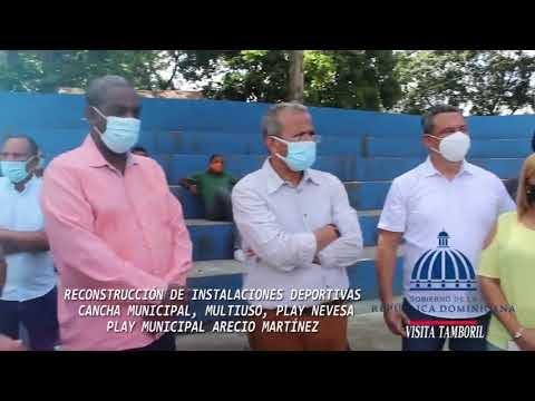 Vice Ministro de Deportes supervisa  centros deportivos  en Tamboril
