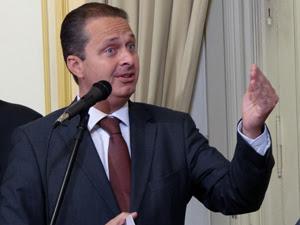 Eduardo Campos lançou FarmaSUS nesta quarta. (Foto: Katherine Coutinho / G1PE)