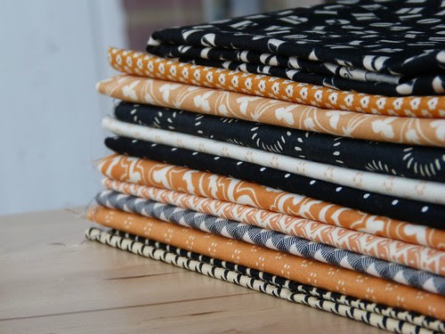 halloween fabric stack
