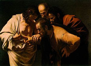 The Incredulity of Saint Thomas, by Caravaggio...