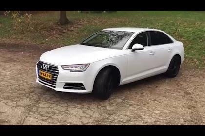2017 Audi A4 White With Black Rims