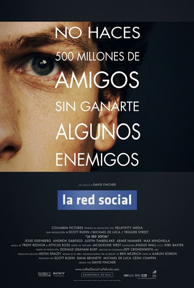 Cartel de La red social (The Social Network)