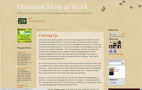 Christian Mom at Work