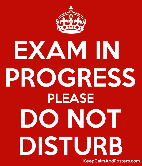 Image result for do not disturb exam in progress