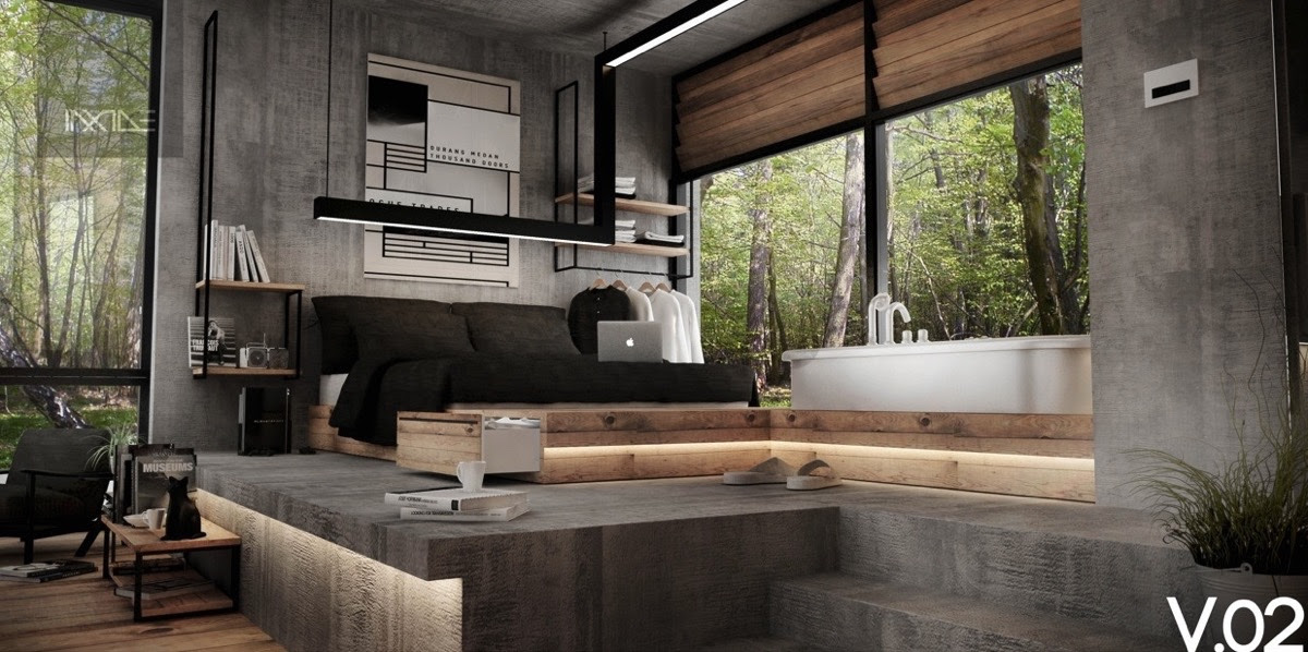 Rustic Industrial Bedroom Ideas