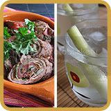 Beef Rolls | Lemongrass Drink