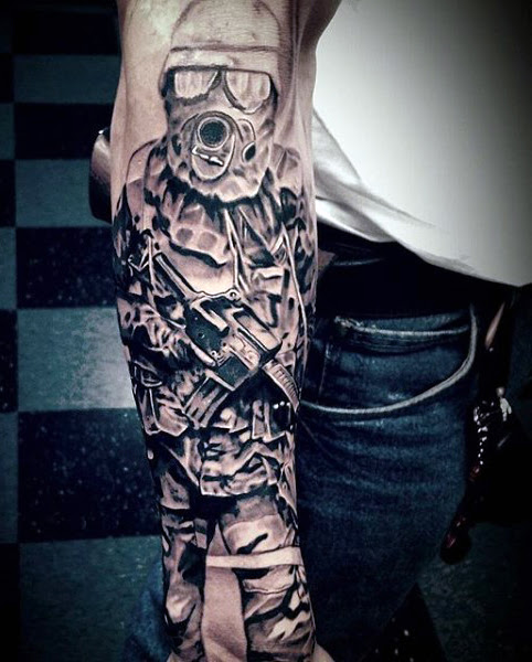 Mens Military Tattoos Meanings Tattoo Love
