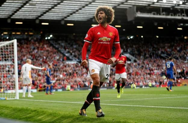 Premier League!! Rashford And Fellaini Scores As Unstoppable Manchester United Beat Leicester City 2-0