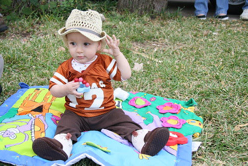Baby tail gating-- never too young.