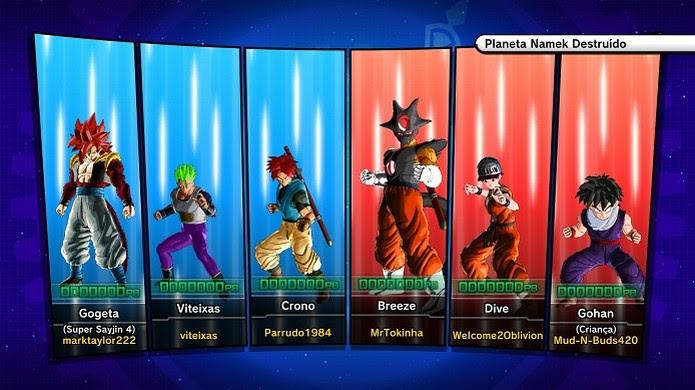 Batalha online de Dragon Ball Xenoverse (Foto: Reprodução/Victor Teixeira) (Foto: Batalha online de Dragon Ball Xenoverse (Foto: Reprodução/Victor Teixeira))