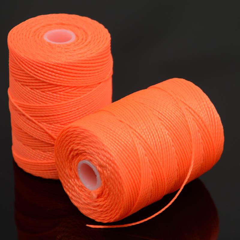 s37230 Thread -  C-Lon Bead Cord - Neon Orange (Spool)