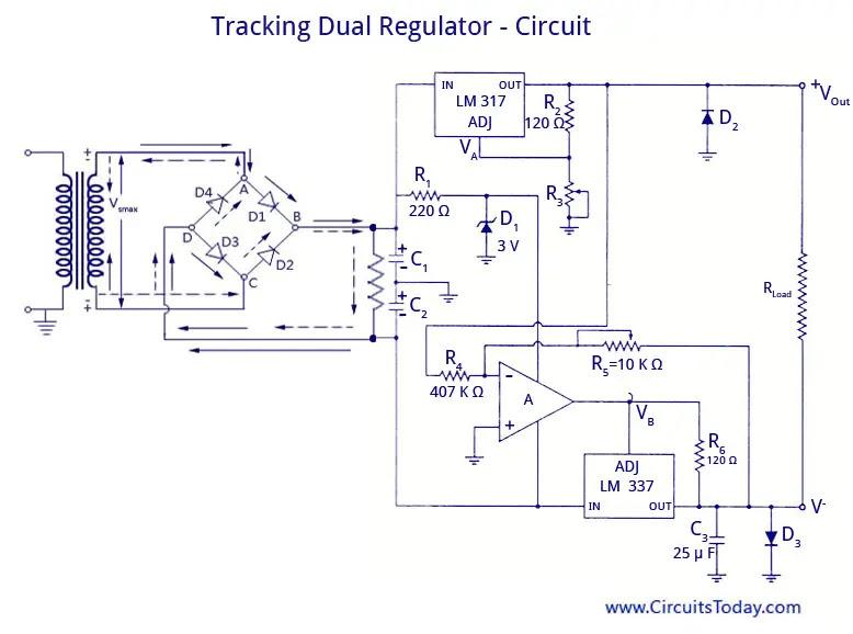Tracking Dual Regulator - Circuit