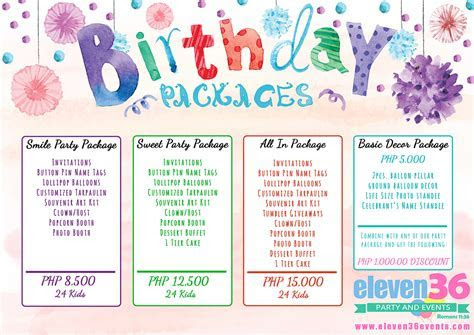 Birthday Package   Eleven36 Party & Events Cebu
