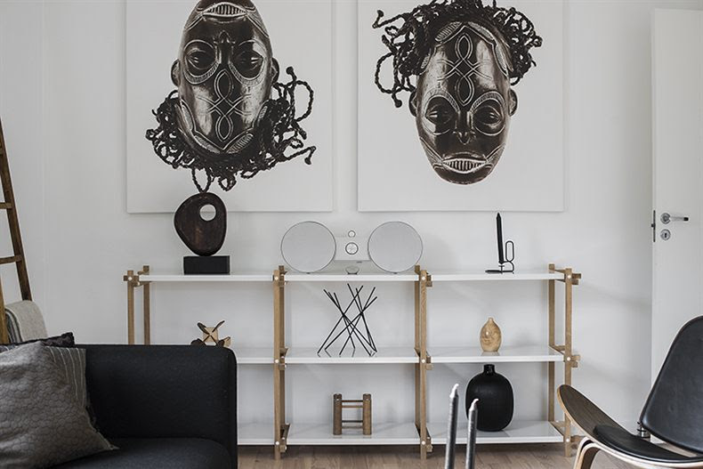 Nordic and African blended into one home - via cocolapinedesign.com