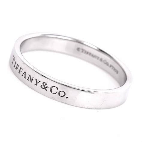 Tiffany and Co. Men?s Platinum Wedding Ring For Sale at