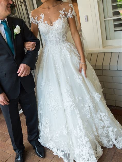 Steven Khalil Custom Made Used Wedding Dress on Sale 45%
