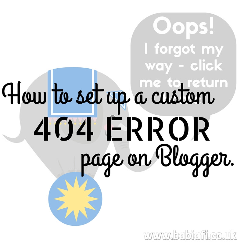 How to set up a custom 404 Error page on Blogger