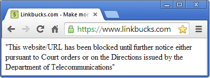 Linkbucks blocked