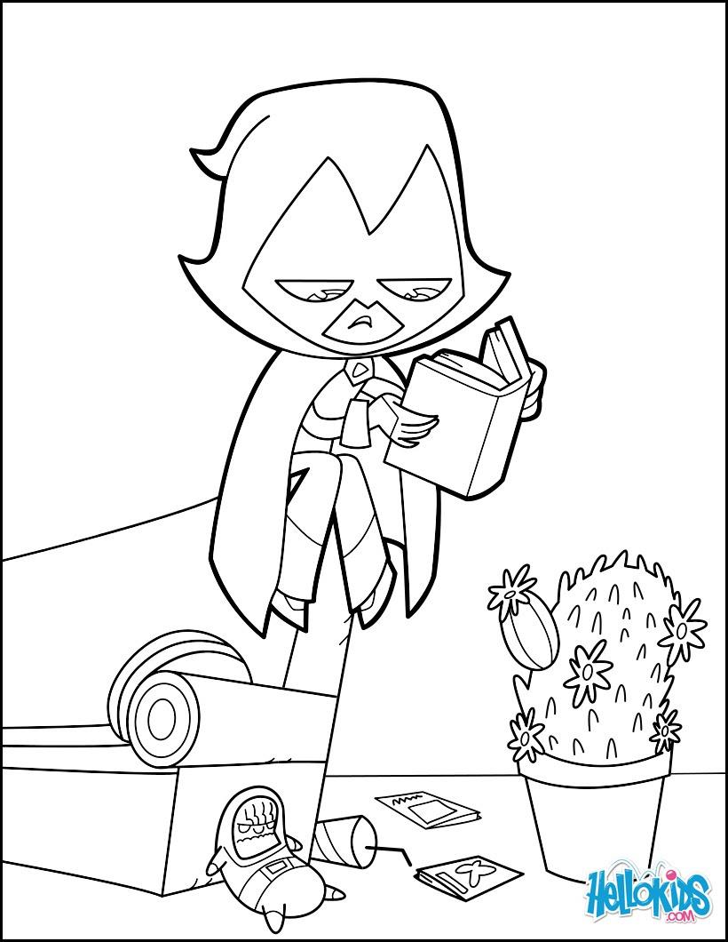 Teen Titan Raven Coloring Pages Hellokidscom