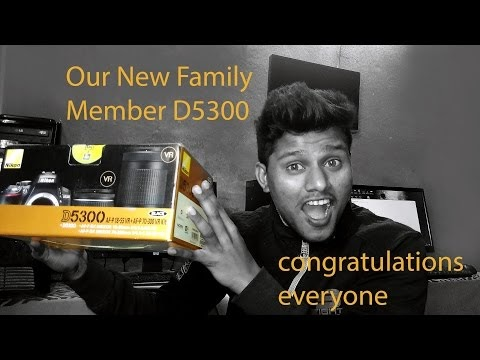 Met our new family member D5300 DSLR Camera | Best Camera For Photoshop