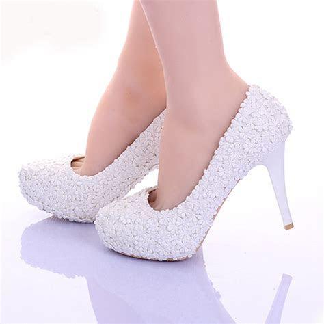 Aliexpress.com : Buy White Lace Flower Formal Dress Shoes
