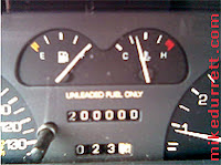 Mike's car passes the magic 200000 miles.