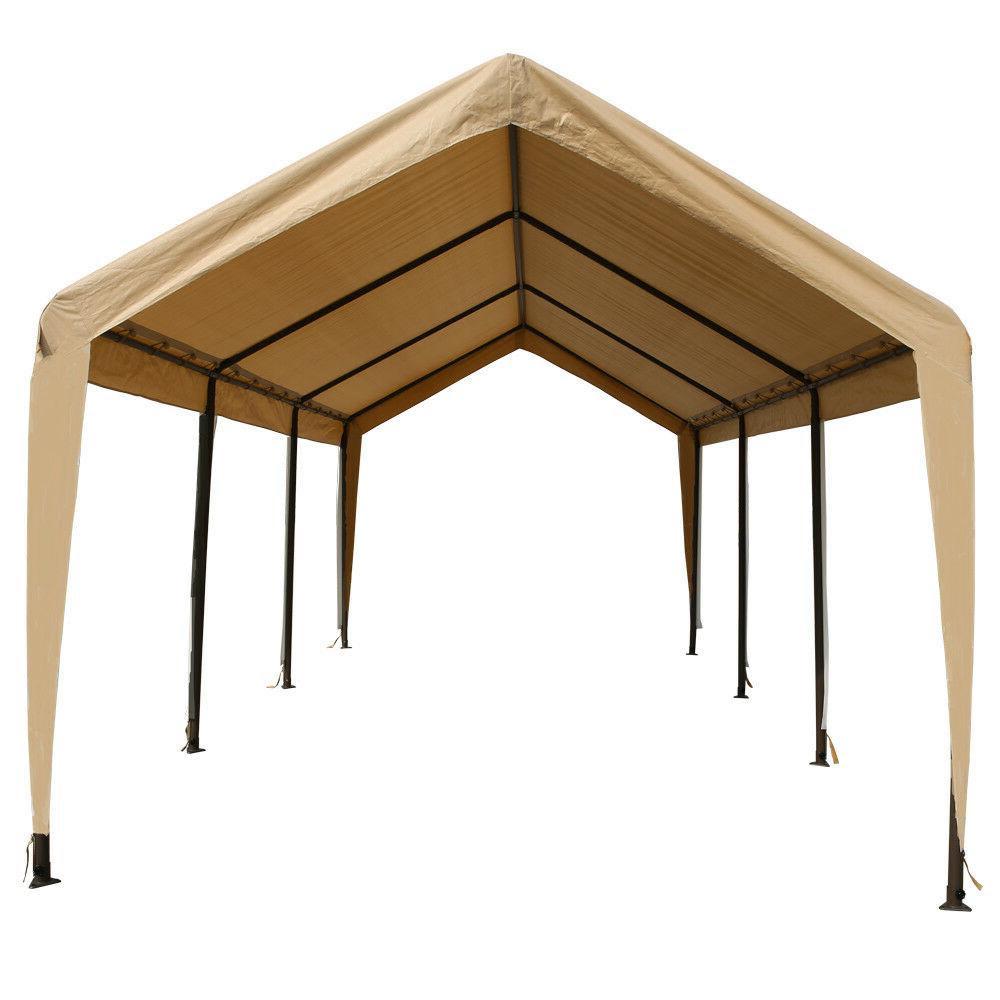 Tan Heavy Duty Canopy Tent 10x20 Carport Portable