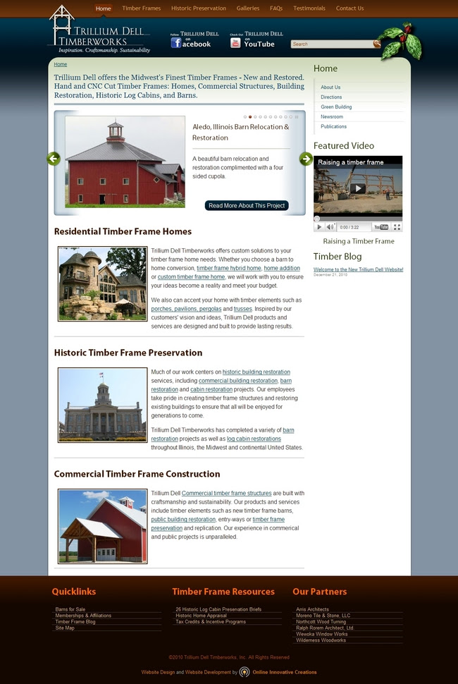 Home Builder Web Design Peoria Il Trillium Dell Timberworks