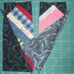 Cut away extra string fabric