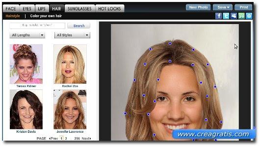 Software virtuale tagli e pettinature gratis Capelli virtuali Provare  - siti per provare tagli di capelli