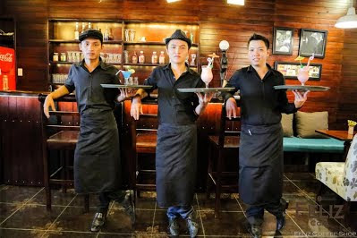 tạp dề quán cafe