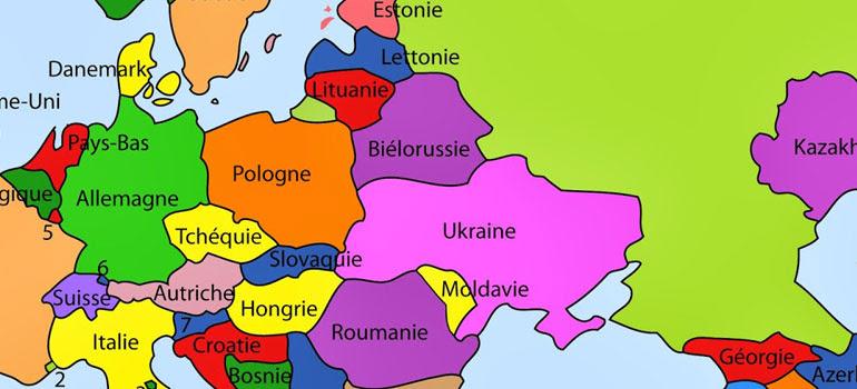 Carte Europe Pays Bas.Carte Pays De L Est Carte