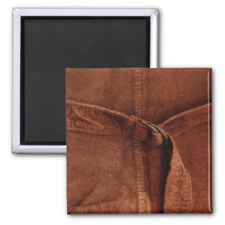 Brown Suede With Strap And Buckle magnet
