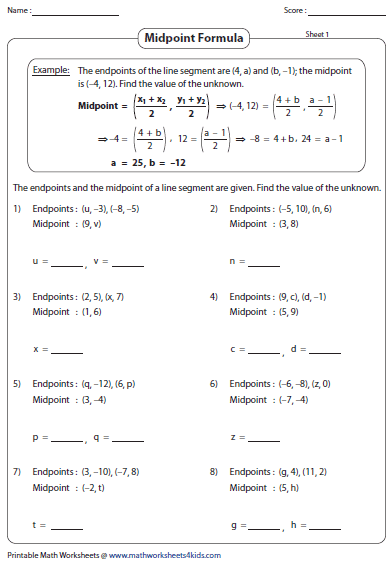 27 Distance And Midpoint Worksheet - Worksheet Resource Plans