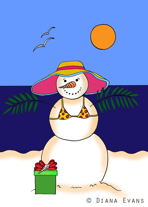 coastal snowwoman