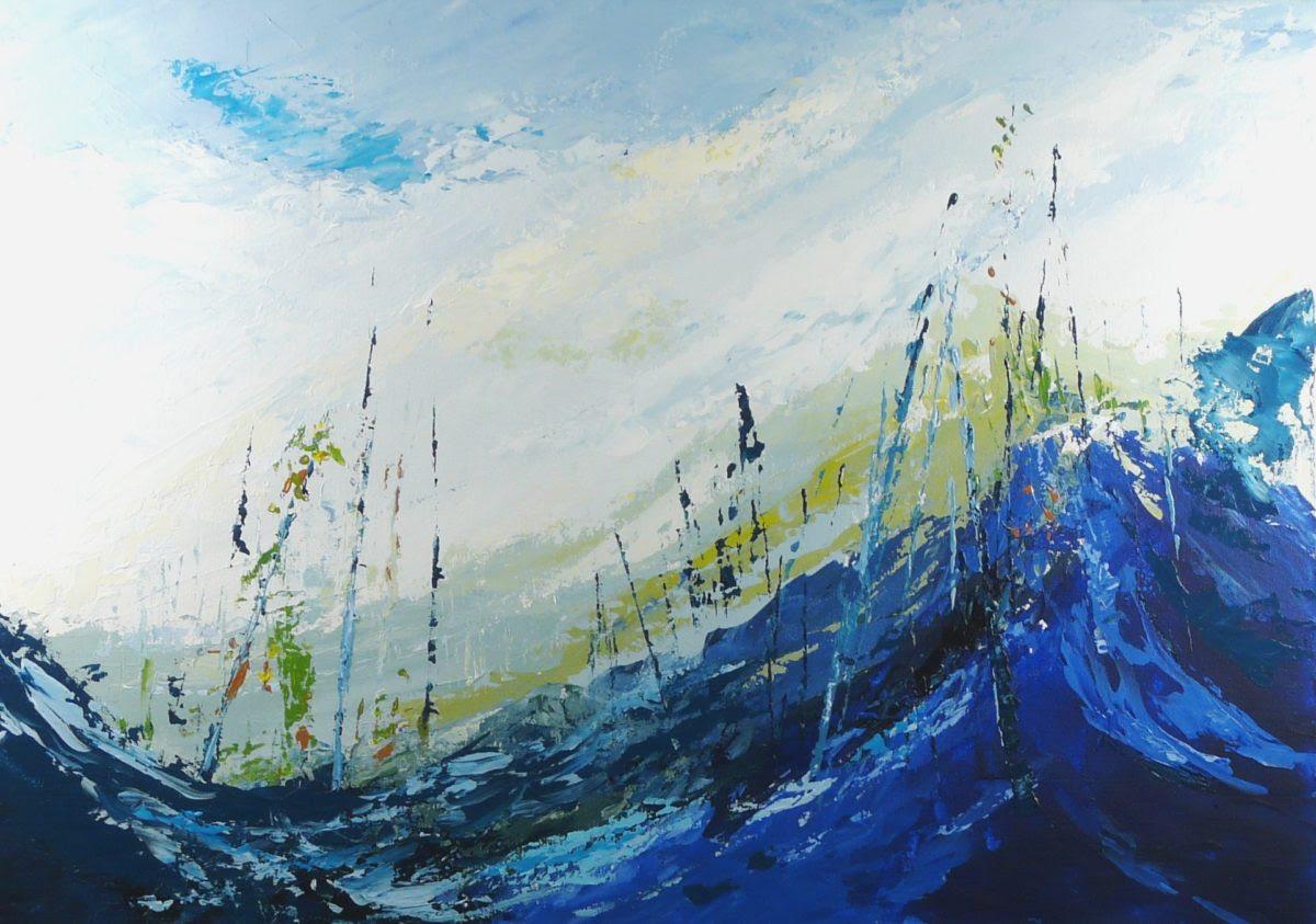 Terre d'hiver no 16 - 24x28 - Acrylique sur toile (Disponible)